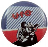 UFO - 'Red, White & Blue' Button Badge